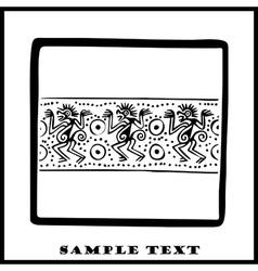 Aztec Ethnic Motif Pattern vector image