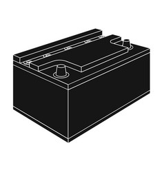 Battery car single icon in black style for design vector