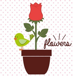 beautiful floral design vector image