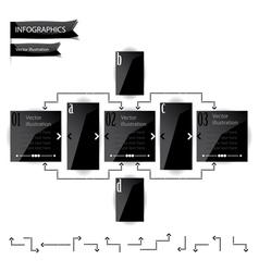 Black glossy panels presentations vector image