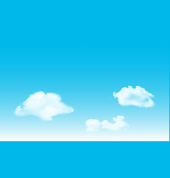 blue sky alto cumulus cloud background vector image