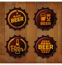 Bottle cap Design Beer labels vector image