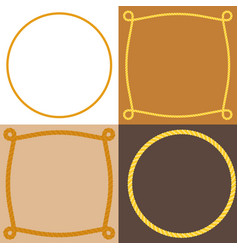 circle and square rope frame vector image