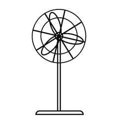 Fan icon outline style vector image