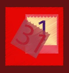 Flat shading style icon tear-off calendar vector