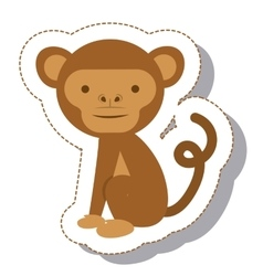 funny monkey isolated icon vector image