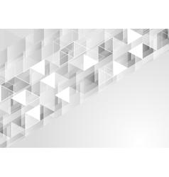 Grey geometric polygonal pixelated background vector image