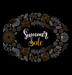 handwritten summer sale in vector image vector image