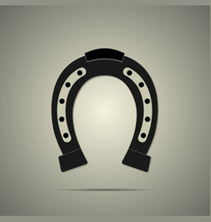 horseshoe icon in flat style vector image vector image