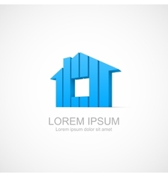 House abstract real estate icon vector image vector image