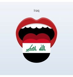 Iraq language Abstract human tongue vector image