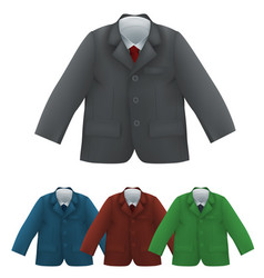 kids jacket shirt and tie blank template vector image vector image