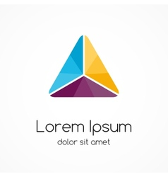 Logo template modern abstract triangle vector