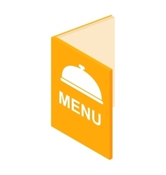 Menu isometric 3d icon vector image