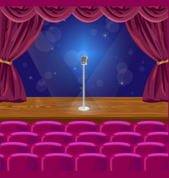 microphone on a stage vector image