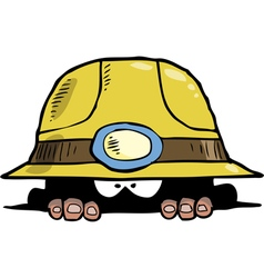 miner in a hole vector image vector image