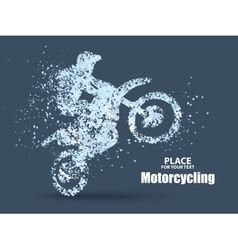 Particles of motorcycle ridersfull enterprising vector