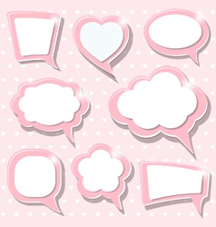 Pink frames vector image vector image