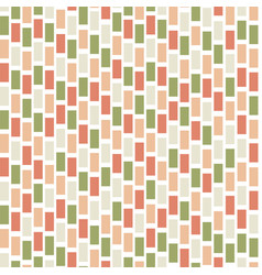Seamless abstract pattern with colored rectangles vector