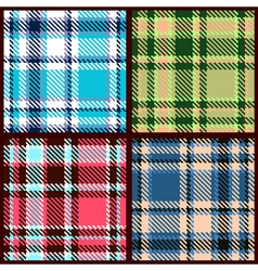 set of seamless checkered pattern vector image