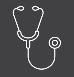 stethoscope line icon medicine vector image