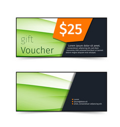 swoosh wave abstract gift voucher vector image vector image