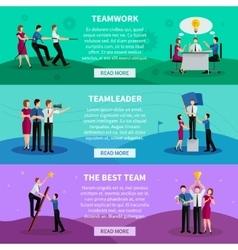 Teamwork horizontal banners vector