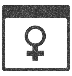 Venus female symbol calendar page grainy texture vector