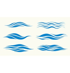 waves from element of the design vector image