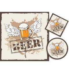 Beer stand vector