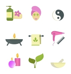 Spa beauty body care icons vector