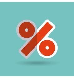Percent symbol isolated icon vector