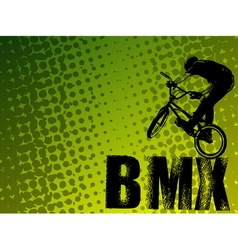 Bmx stunt cyclist vector