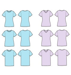 T shirts silhouettes vector image