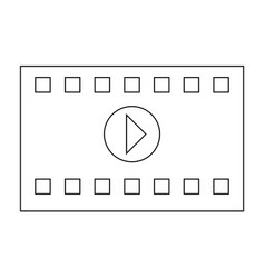 A frame from a movie the black color icon vector