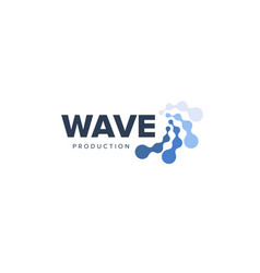 water abstract water logo lines and dots vector image