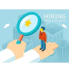 Choosing person for hiring vector
