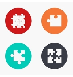Modern puzzle colorful icons set vector