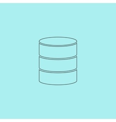 Database icon vector
