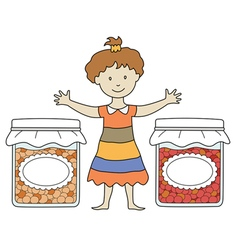 Kids with jam 2 vector