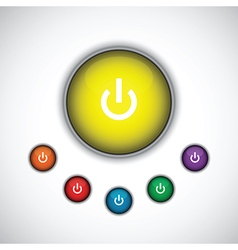yellow on button vector image