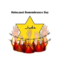 Holocaust remembrance day on vector