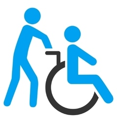 Disabled person transportation flat icon vector