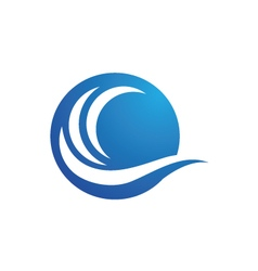 Water wave Logo Template vector image