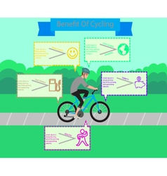 Benefit of cycling infographic design vector