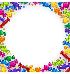 Abstract background with colorful candy stickers vector