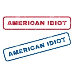 American idiot rubber stamps vector