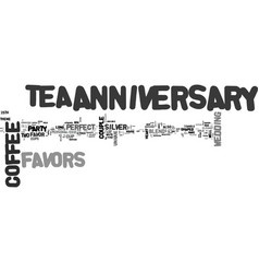 Anniversary favor ideas text word cloud concept vector