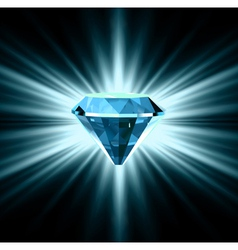 Beautiful blue crystal background vector image vector image