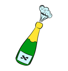 champagne explosion icon icon cartoon vector image vector image
